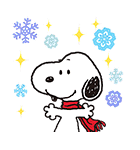 スヌーピー 冬のポップアップ(個別スタンプ:03)