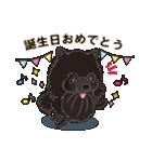気軽にスタンプ 黒ポメラニアン 誕生日編(個別スタンプ:04)