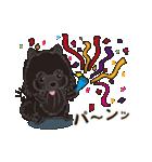 気軽にスタンプ 黒ポメラニアン 誕生日編(個別スタンプ:07)
