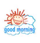 「おはよう」天気で挨拶 冬編(個別スタンプ:02)