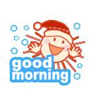 「おはよう」天気で挨拶 冬編(個別スタンプ:06)