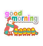 「おはよう」天気で挨拶 冬編(個別スタンプ:25)