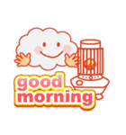 「おはよう」天気で挨拶 冬編(個別スタンプ:34)