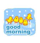 「おはよう」天気で挨拶 冬編(個別スタンプ:38)