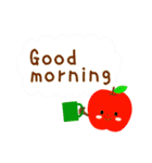RED&GREEN☆リンゴの日常カジュアルセット(個別スタンプ:1)