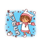 にこにこ!おかっぱちゃん(冬)(個別スタンプ:5)