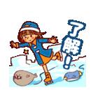 にこにこ!おかっぱちゃん(冬)(個別スタンプ:8)