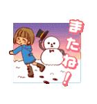 にこにこ!おかっぱちゃん(冬)(個別スタンプ:21)