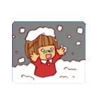 にこにこ!おかっぱちゃん(冬)(個別スタンプ:30)