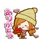 ほのぼのカノジョ 【冬のあったかコトバ】(個別スタンプ:09)