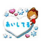ほのぼのカノジョ 【冬のあったかコトバ】(個別スタンプ:36)