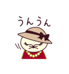 猫町倶楽部の読書会/猫男爵と淑女ねこ(個別スタンプ:27)