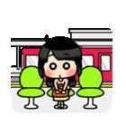 (恋)待ち合わせ&恋愛系☆黒髪女子第2弾(個別スタンプ:20)