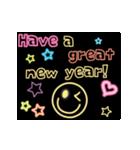 動く!ネオンメッセージ(正月・クリスマス)(個別スタンプ:02)