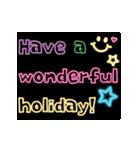 動く!ネオンメッセージ(正月・クリスマス)(個別スタンプ:05)