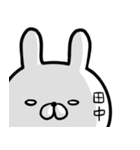 【田中さん】専用名前ウサギ(個別スタンプ:28)