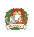 サンタのおじいさんとトナカイさん☆(個別スタンプ:01)