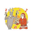 サンタのおじいさんとトナカイさん☆(個別スタンプ:04)
