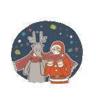 サンタのおじいさんとトナカイさん☆(個別スタンプ:14)