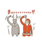 サンタのおじいさんとトナカイさん☆(個別スタンプ:30)