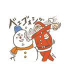 サンタのおじいさんとトナカイさん☆(個別スタンプ:34)