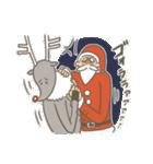 サンタのおじいさんとトナカイさん☆(個別スタンプ:35)