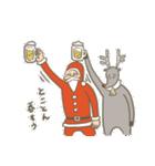サンタのおじいさんとトナカイさん☆(個別スタンプ:39)