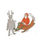 サンタのおじいさんとトナカイさん☆(個別スタンプ:40)