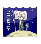 青年と女子高生+α(個別スタンプ:03)