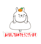 Lサイズ吹き出し うさぎ【年末年始編】(個別スタンプ:15)