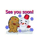 see you、挨拶、さよなら、雪、雪だるま、冬(個別スタンプ:39)