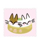 ネコと小鳥の切手スタンプ(個別スタンプ:8)