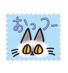 ネコと小鳥の切手スタンプ(個別スタンプ:23)