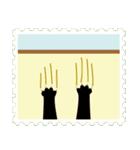ネコと小鳥の切手スタンプ(個別スタンプ:26)