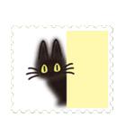 ネコと小鳥の切手スタンプ(個別スタンプ:40)