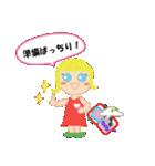 海外旅行で使えるスタンプ♪青い目の女の子(個別スタンプ:01)