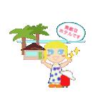 海外旅行で使えるスタンプ♪青い目の女の子(個別スタンプ:05)