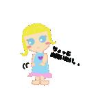 海外旅行で使えるスタンプ♪青い目の女の子(個別スタンプ:25)