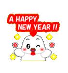 お正月・冬のあいさつ「ニワトリ」(40個)(個別スタンプ:9)
