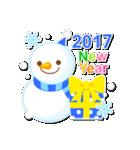 【2017】プチアニマルの年賀スタンプ(個別スタンプ:05)