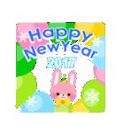 【2017】プチアニマルの年賀スタンプ(個別スタンプ:17)