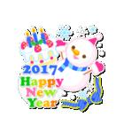 【2017】プチアニマルの年賀スタンプ(個別スタンプ:26)