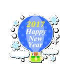 【2017】プチアニマルの年賀スタンプ(個別スタンプ:34)