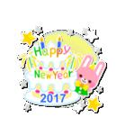 【2017】プチアニマルの年賀スタンプ(個別スタンプ:38)