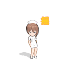 動く! 看護女子(個別スタンプ:01)
