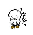 雲から生まれたプードル。(個別スタンプ:03)