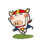 ブタさん、ヒーロー2♪(個別スタンプ:10)