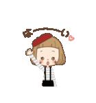 前髪短めな女の子のまいにち[40選](個別スタンプ:02)