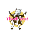 俺やで!ゆかいな白柴わんこ6(ガーリー編)(個別スタンプ:08)