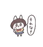 ショートヘア女子うさぎ(個別スタンプ:01)